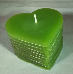 DIY Green Heart Candle 250