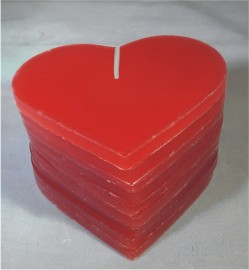 DIY Red Heart Candle 250
