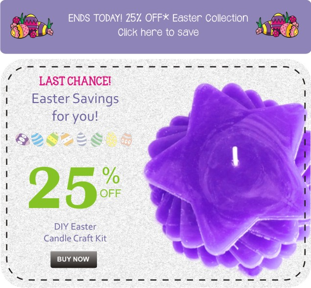 Easter Purple DIY 25 OFF Ad 635 new