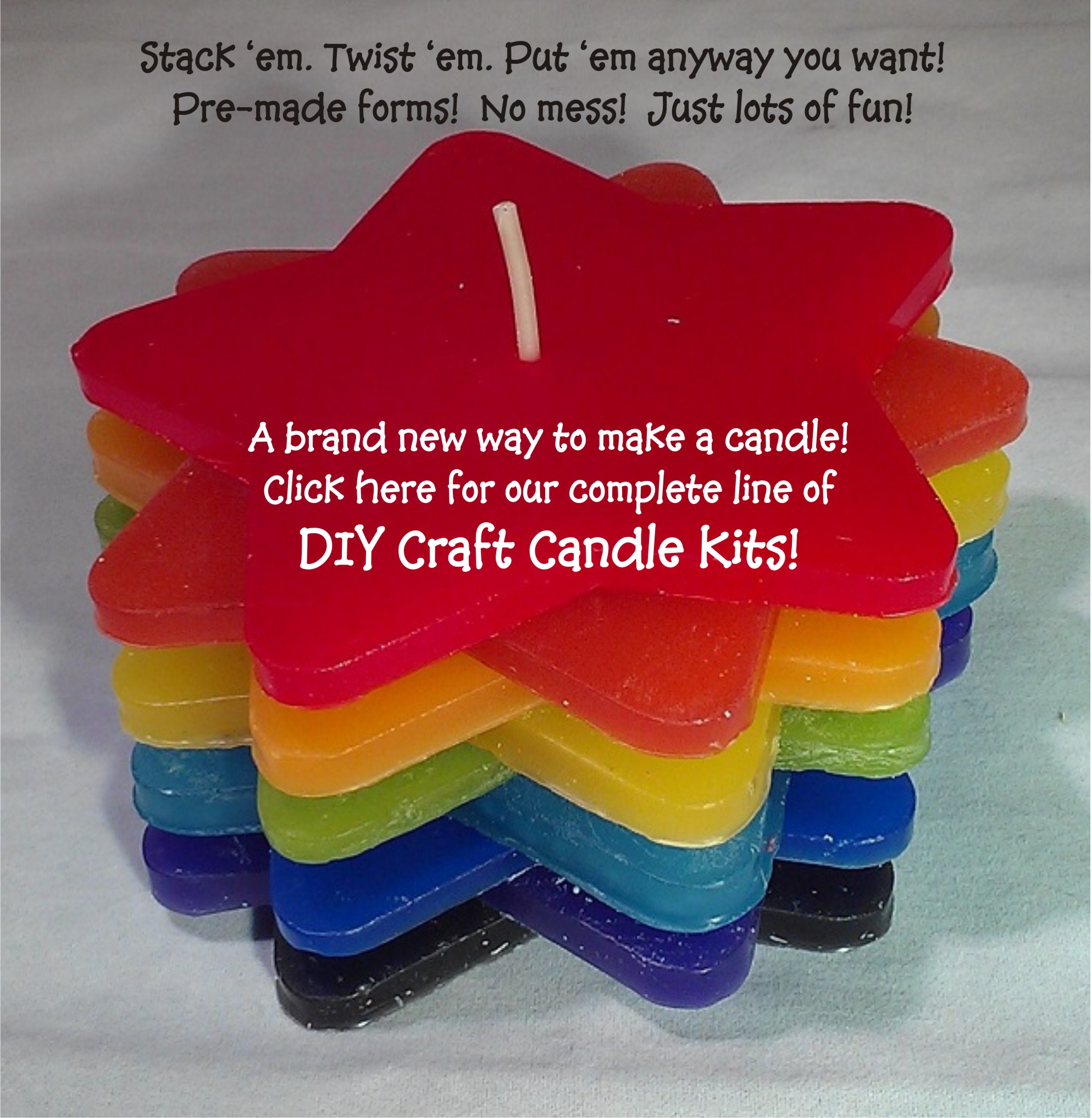 The Cranberry Barn DIY Rainbow Candle with words for webpage