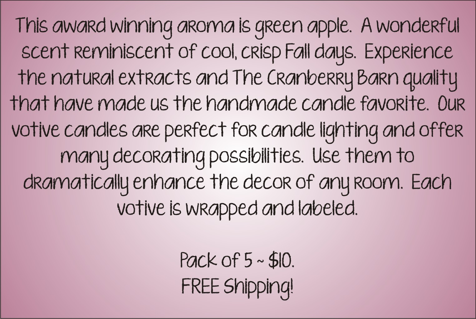 Votive Description - Green Apple