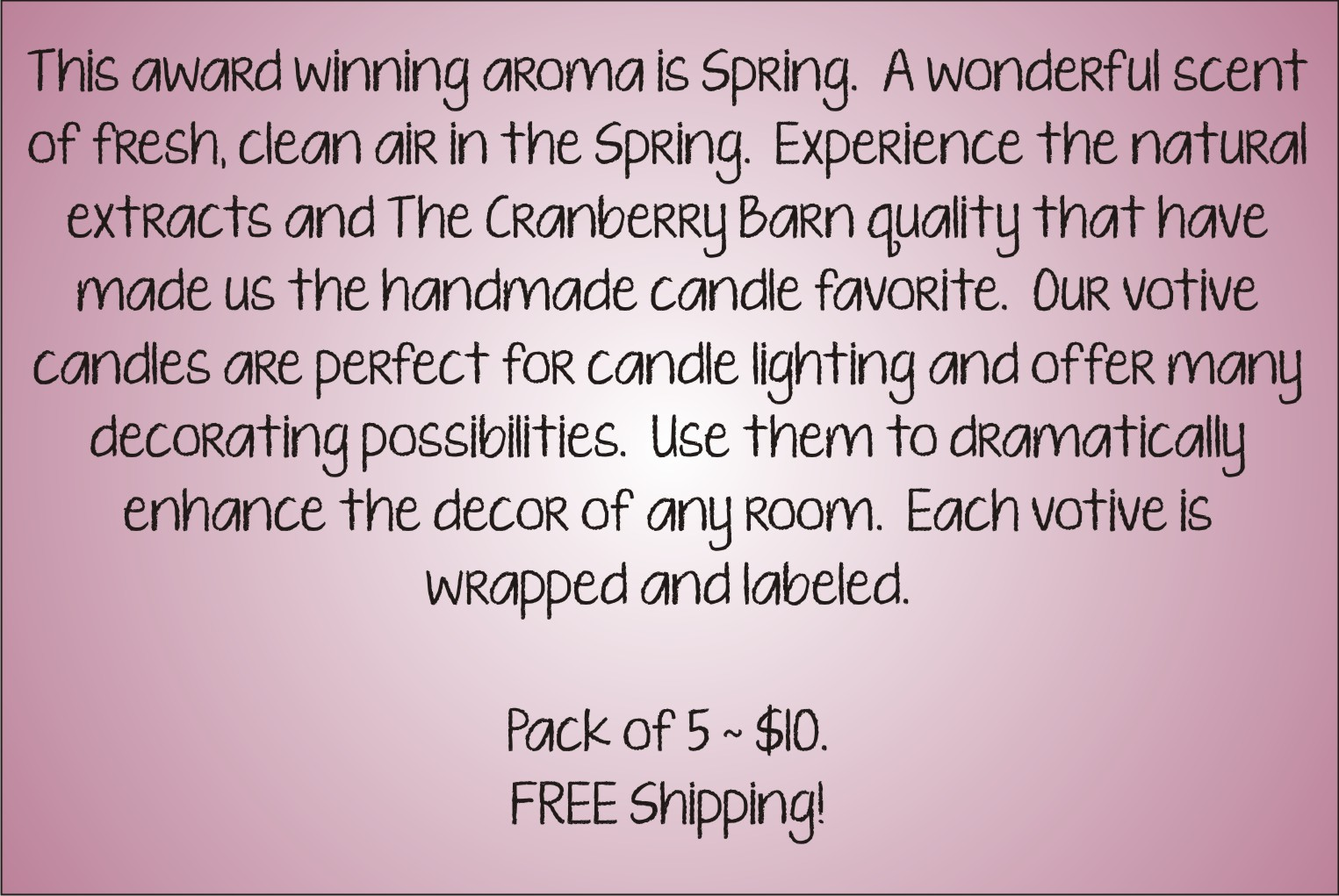 Votive Description - Spring